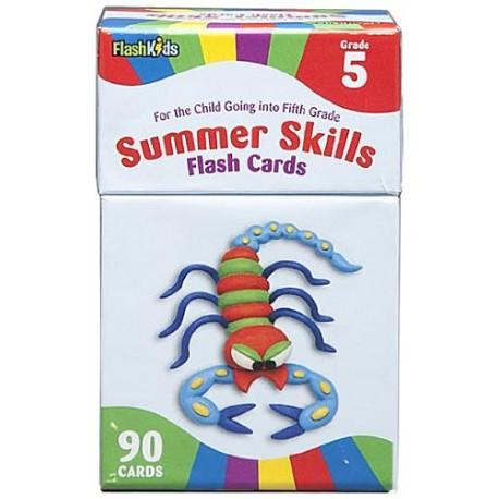 Summer Skills Flash Cards (Grade 5)