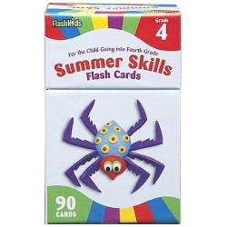 Summer Skills Flash Cards (Grade 4)